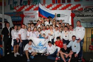 Сборная команда России по тайскому боксу на чемпионате Европы 2011г.